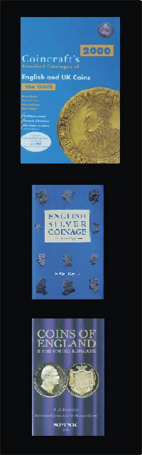 Common reference books for English coins, Coincraft, English Silver Coinage and Spink - Coins of England.